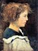 Silvestro Lega, Profilo di giovinetta con abito alla marinara, 1893, Dipinto