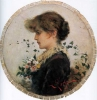 Silvestro Lega, Profilo di ragazza, seconda metà del XIX secolo, Dipinto