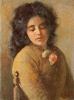 Silvestro Lega, Ritratto di giovane donna del Gabbro 1893, Dipinto