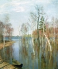 Isaak Ilich Levitan (1860-1900): Piena di primavera, 1897, olio su tela, cm. 64,2 x 57,5, Mosca, Galleria Tretyakov