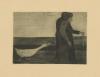 Modersohn-Becker, Die Frau mit der Gans (La donna con l'oca), 1902, Acquaforte e acquatinta, cm. 12,3 x 17,3 (lastra), stampa postuma
