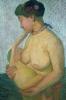 Paula Modersohn-Becker, Madre con bambino al seno (Mutter mit Kind an der Brust), 1906, von der Heydt-Museum, Wuppertal
