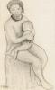 Paula Modersohn-Becker, Sitzender Akt mit Kind (Nudo seduto con bambino), 1906, Disegno, Carboncino, cm. 32 x 20, Collezione privata