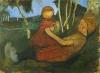 Paula Modersohn-Becker, Liegendes Mädchen mit Kind (Ragazza sdraiata con bambina), collezione privata