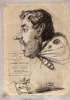 "Claude Monet, Caricatura di Jules Didier (""Uomo farfalla""), Caricature of Jules Didier (""Butterfly Man""), XIX secolo, 1858 circa, Carboncino, rialzato con gesso bianco, con sbavatura, su carta vergata azzurra (scolorita in marrone chiaro), mm. 616 x 436, Firma in basso a destra: O. Monet, Chicago, Art Institute, inv. n. 1933.889, Mr. and Mrs. Carter H. Harrison Collection"