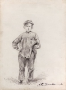 Claude Monet, Ragazzo in campagna, Boy in the country, XIX secolo, 1857, Disegno, Grafite, con tocchi di cancellature, su carta velina color crema, mm. 307 x 230, Chicago, Art Institute, inv. n. 2013.985, Dono di Dorothy Braude Edinburg alla Harry B. and Bessie K. Braude Memorial Collection, Wildenstein D70