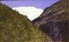 Angelo Morbelli, Montagna con sfondo di ghiacciaio, Collezione privata in deposito nel Museo Civico e Gipsoteca Bistolfi, Casale Monferrato