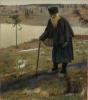 Mikhail Vasilyevich Nesterov (1862-1942): Eremita, 1888-1889, olio su tela, 142,8 x 125, Galleria Tretyakov