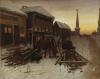 Vasily GrigorievichPerov: L'ultima taverna alle porte della città, 1868, olio su tela, cm. 65,8 x 51,1, Mosca, Galleria Tretyakov