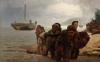 Ilya Efimovich Repin (1844-1930): Battellieri che attraversano un guado [dettaglio]