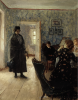 Ilya Efimovich Repin (1844-1930): Ritorno inatteso, 1883-1898, olio su legno, cm. 45,8 x 37, Mosca, Galleria Tretjakov