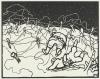Vallotton, Il filo spinato | Les fils de fer | The wire, Xilografia stampata in nero su carta velina, 24,6 x 33,7 cm, Van Gogh Museum, Amsterdam