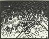 Vallotton, La sentinella | Le guetteur | The lookout, Xilografia stampata in nero su carta velina, 25,3 x 33,1 cm, Van Gogh Museum, Amsterdam