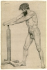 Bazille, Accademia d'uomo | Académie d'homme | Male nude