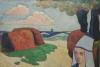 Émile Bernard, Donna e mucchi di fieno, Bretagna | Femme et meules de foin, Bretagne | Woman and haystacks, Brittany