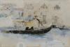 Mosè Bianchi, Gondoliere a San Geremia, Venezia