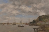 Boudin, Il fiume Garonna a Lormont.jpg