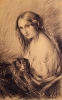 Giovanni Carnovali (detto il Piccio), Fanciulla con cane