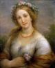 Giovanni Carnovali (detto il Piccio), Flora Flora (Donna con fiori e collana di corallo)