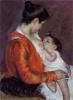 Cassatt, Mamma Louise che allatta il suo bambino.jpg