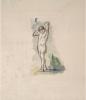 Cezanne, Bagnante in piedi con le braccia conserte dietro la testa.png