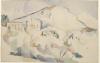Cezanne, Lo Chateau Noir con la montagna Sainte Victoire.png