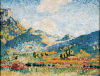 Henri-Edmond Cross, I Petit Maures, montagne nei pressi di Fréjus | Les Petites-Maures, montagnes près de Fréjus