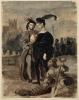 Eugène Delacroix, Amleto e Orazio nel cimitero | Hamlet et Horatio dans le cimetière | Hamlet und Horatio auf dem Friedhof | Hamlet and Horatio in the cemetery