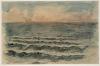 Eugène Delacroix, Il mare a Dieppe | La mer à Dieppe | The sea at Dieppe | Das Meer bei Dieppe [1854 ?]