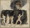 Eugène Delacroix, Scena infernale con Dante tra ruffiani e seduttori del 18° Canto della «Divina Commedia»