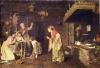 Giacomo Favretto, Conversazione tra donne e bambine nella cucina di una casa contadina