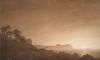 Caspar David Friedrich, Veduta di Arkona con luna nascente | Blick auf Arkona mit aufgehendem Mond