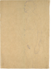 "Gustav Klimt, Donna anziana in piedi di profilo (Studio per 'Le tre età') | Stehende ältere Frau im Profil (Studie für ""Die drei Lebensalter"")"