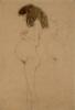 Gusta Klimt, Donna incinta in piedi di profilo, con ripetizione della figura (Studi per 'La speranza I')