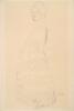 Gustav Klimt, Donna incinta vestita, di profilo, il viso rivolto verso lo spettatore (Studio per 'La Speranza II')