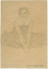 Gustav Klimt, Donna seduta di fronte in abito plissettato | Sitzende von vorne in einem gefalteten Kleid