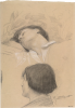 Gustav Klimt, Giovane uomo sdraiato (Romeo), uomo in profilo perduto