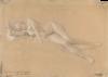 Gustav Klimt, Menade sdraiata (Studio per 'Altare di Dioniso', Wiener Burgtheater)