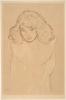 Gustav Klimt, Ritratto a mezzo busto di una ragazza di fronte | Brustbild eines Mädchens von vorne