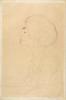 Gustav Klimt, Ritratto femminile a mezzo busto di profilo a sinistra | Weibliches Brustbild im Profil nach links