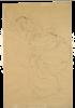 Gustav Klimt, Seminudo sdraiato, le braccia incrociate dietro la testa (Studio per 'La vergine')