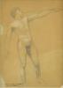 Gustav Klimt, Studio di nudo maschile   Männliche Aktstudie   Study of a nude male