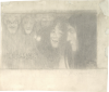Gustav Klimt, Talia e Melpomene   Thaleia und Melpomene