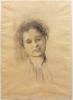 Gustav Klimt, Testa di donna   Frauenkopf [1895 circa]