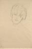 Gustav Klimt, Testa di donna di fronte   Frauenkopf von vorne