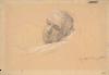 Gustav Klimt, Testa di un uomo sdraiato (Studio per 'Teatro a Taormina')