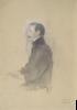 """Gustav Klimt, Uomo seduto rivolto a sinistra   Sitzender Mann nach links (Studie für """"Schubert am Klavier"""")"""