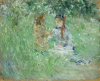 Morisot, Donna e bambina in un prato a Bougival.png
