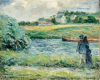 Pissarro Camille, Passeggiata lungo il fiume, Pontoise.png