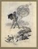 Franz von Stuck, Bozza per una mappa di caccia   Entwurf für eine Jagdkarte